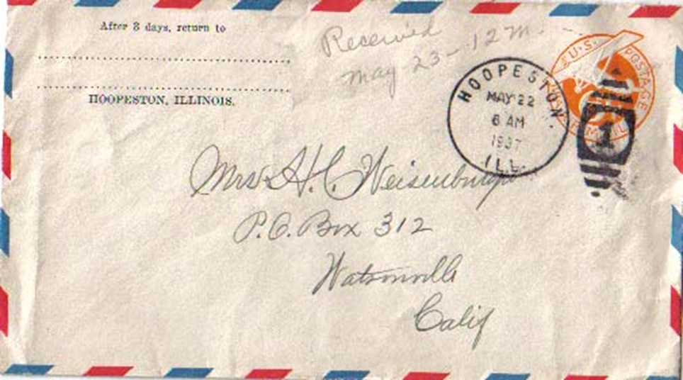 United States Postal Stationary Covers