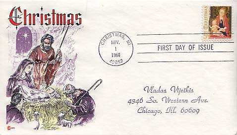 United States, First Day Cover, Christmas Price: $1.25. Item #B35047